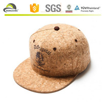 Stylish wholesale leather strap 3d embroidery custom cork snapback hats