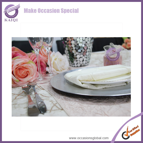 PZ21080 China wholesale bulk elegant plastic serving platter gold charger plate for wedding restaurant