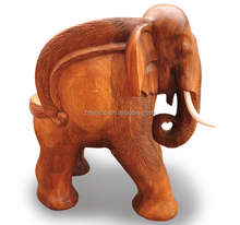 Southeast Asia Style Elephant Shape Wood Chair, Exquisite Handcarving Living Elephant Single Seater Chair (BF01-X1163)