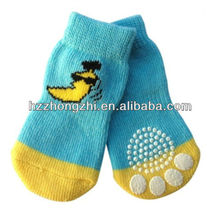 Baby Cotton Dog Rubber Sole Shoe Sock