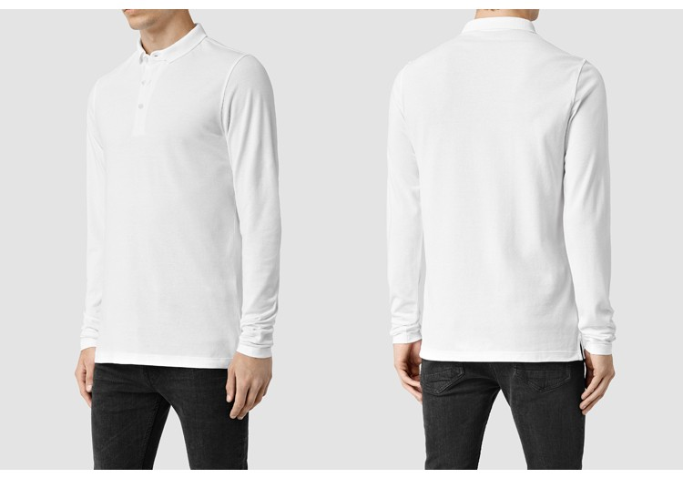 Wholesale men blank polo shirt custom high quality CVC long sleeve polo shirt guangzhou manufacturers