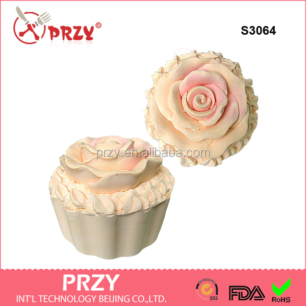 S3064 Round Flower Soap Chocolate Muffin Cupcake Silicone Mold/3CM Cupcake Top Decor Silicone Molds