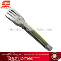 High Quality Stainless Steel Tong Slotted Spatula for Food Ice Bread Meat