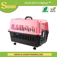 Pet carrier outdoor plastic portable kennel