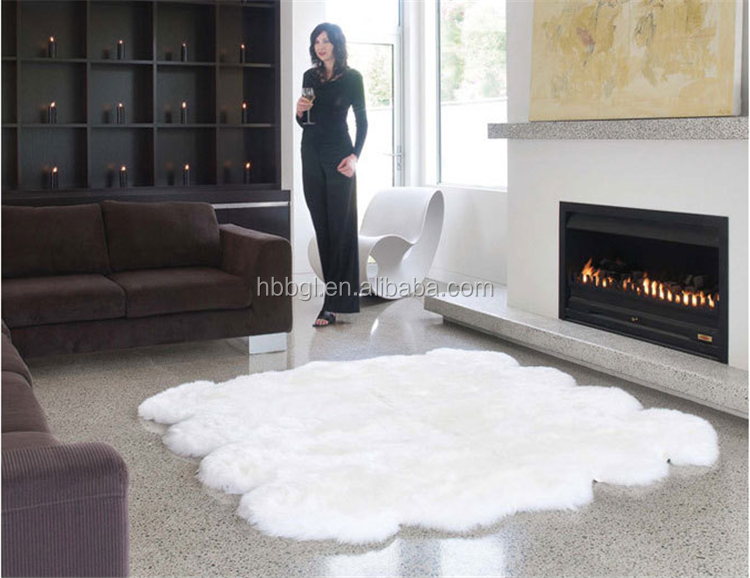 High Quality Long Hair Australian Lamb Fur Skin DyedSheep Fur skin Plate raw lamb skin