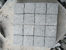 Natural Green Cubic Granite Stone Flamed surface