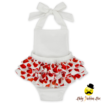 Fancy Baby Hatler Girls Boutique Boubble Ruffle Bodysuit Romper Designs