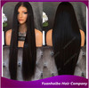 Wholesale price 1b# silky straight virgin peruvian human hair extra long front lace wig