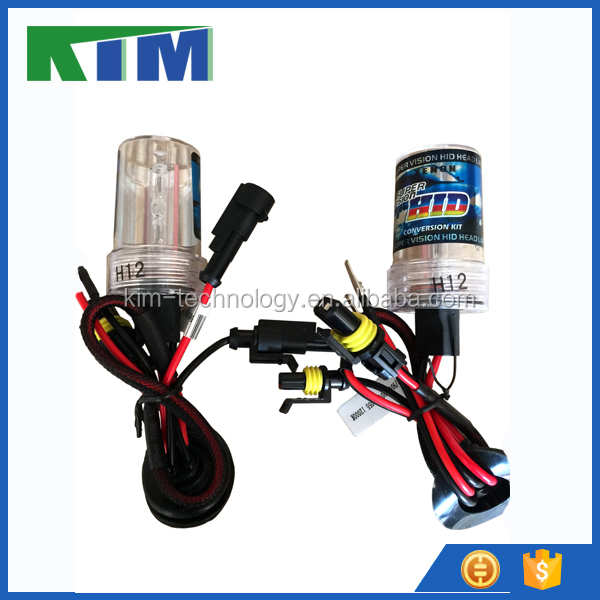 KIM 35W AC/DC H12 - 12000k flash tube xenon hid bulbs for all sizes and colors