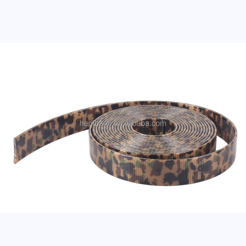 Camouflage customized tpu coated nylon webbing