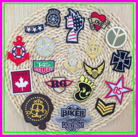 4cm Iron-on or Sew-on for Clothes Customized Plain Embroidery Patches Embroidered Brand Logo Star Patch