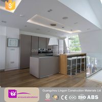 2016 modern pvc film covered mdf kitchen cabinets