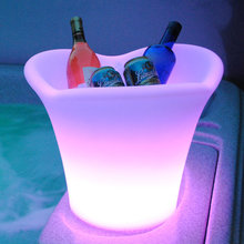 LED shenzhen rechargeable ice pack /design barware ice bucket dry ice container/led glass ice bucket