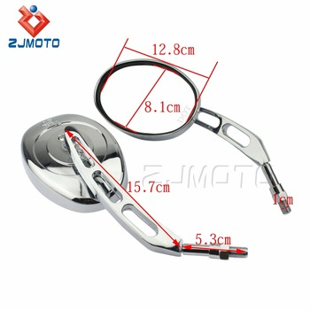 Motorcycle Parts Universal Chrome ABS Plastic Shell Metal Stem Glass Mirrors Motorcycle