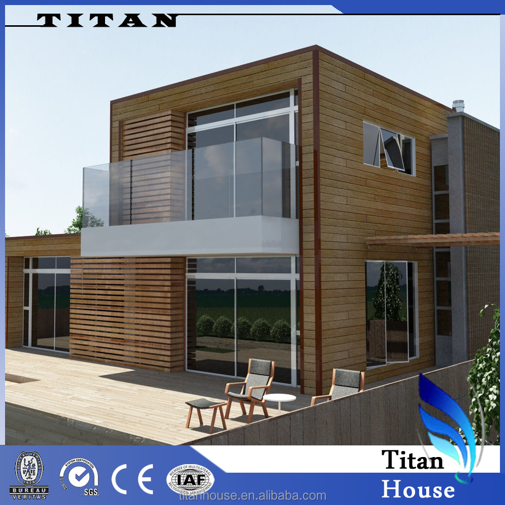 Low Price Two-Storey Wooden Look House Model in India