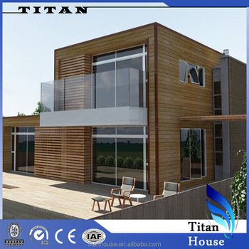 Low Price Two Storey Wooden Look House Model In India