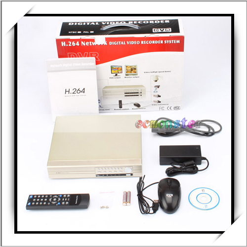 The 4 Channel 12V H.264 Hard Drive DVR Recorder BNC4/BNC2