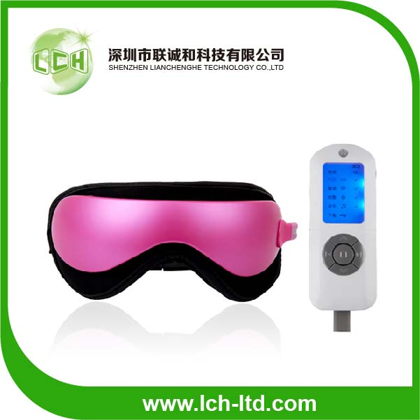2014 NEW Hot sale Electric heated vibration acupuncture air pressure eye care massager