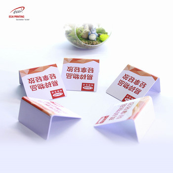 China factory wholesale advertising PVC table card , plastic table card for trade show