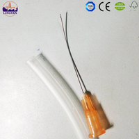 Disposable curved needle surgical suture needle
