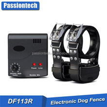 Factory Wholesales 2 in 1 Remote Long Range Dog Training Collar In-ground wireless dog fence with 50 training flag DF113R