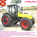110hp farm tractor,12F+4R shift at the right,hydraulic steering,double disc clutch,540/1000 PTO,YTO diesel engine,cabin with A/C