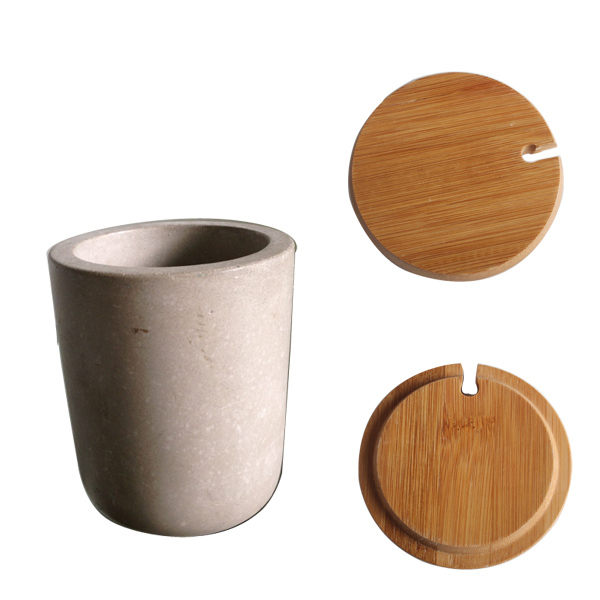concrete or cement kitchen accessories salt and pepper grinder set