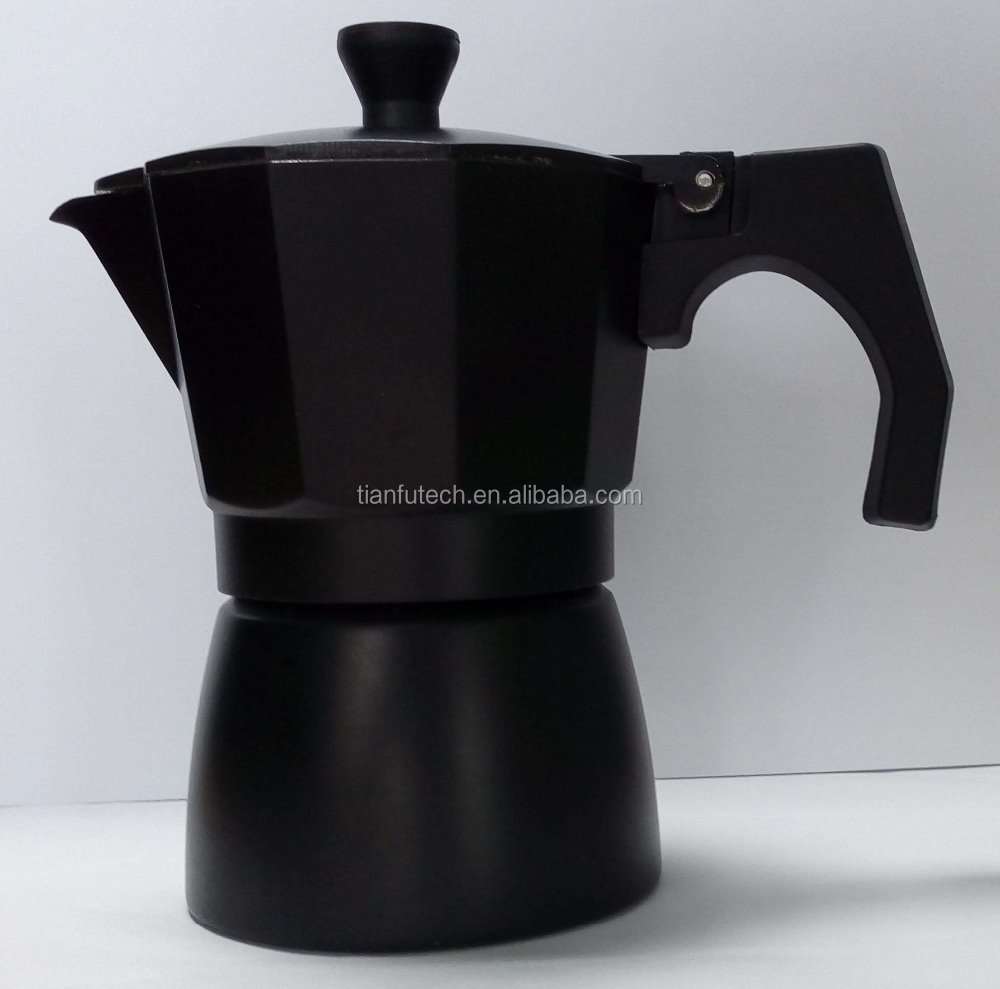 6 cup High Quality Custom Stainless Steel Espresso Italy Coffee Maker stove Moka Pot