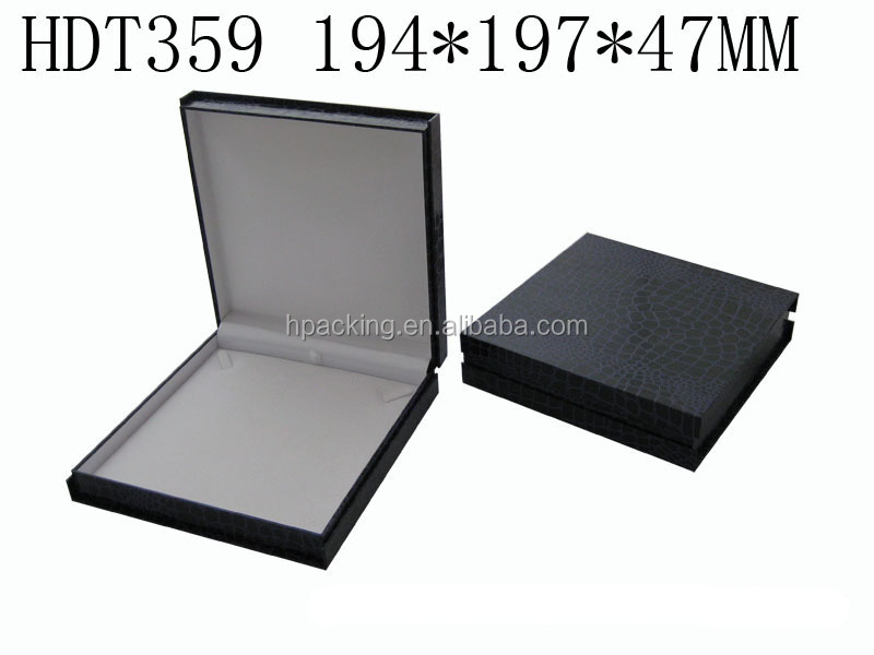 professional beauty leather jewelry box for ring/ necklace/ bracelet