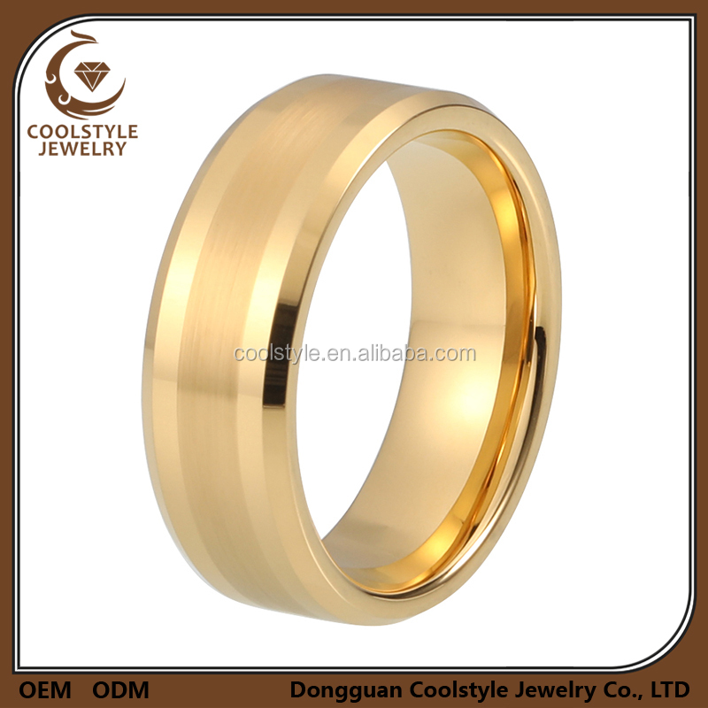 USA best seller 18K gold tungsten wedding band engagement ring
