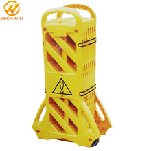 Road Safety Products Yellow Plastic Temporary Portable Expandable Barrier
