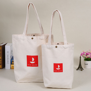 2019 New Arrival 10 oz Eco-friendly Canvas Grocery Tote Bag Custom Good Quality Canvas Bag With Button