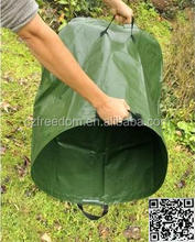 recycle collapsible pp garden leaf weed bags with handles