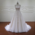 HD024 gorgeous sparkly lace a line wedding dresses for fat bride