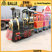 Outdoor tourist diesel trackless train amusement park road train for sale