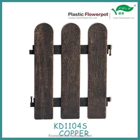 KD1104S Garden use antique iron looking plastic fence/color fence
