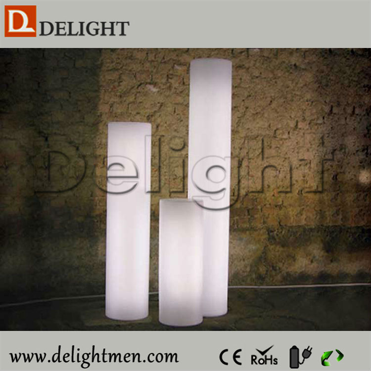 Outdoor Wedding Decoration Roman Pillar Plastic Illuminated Led Decorative Pillars with Remote Control
