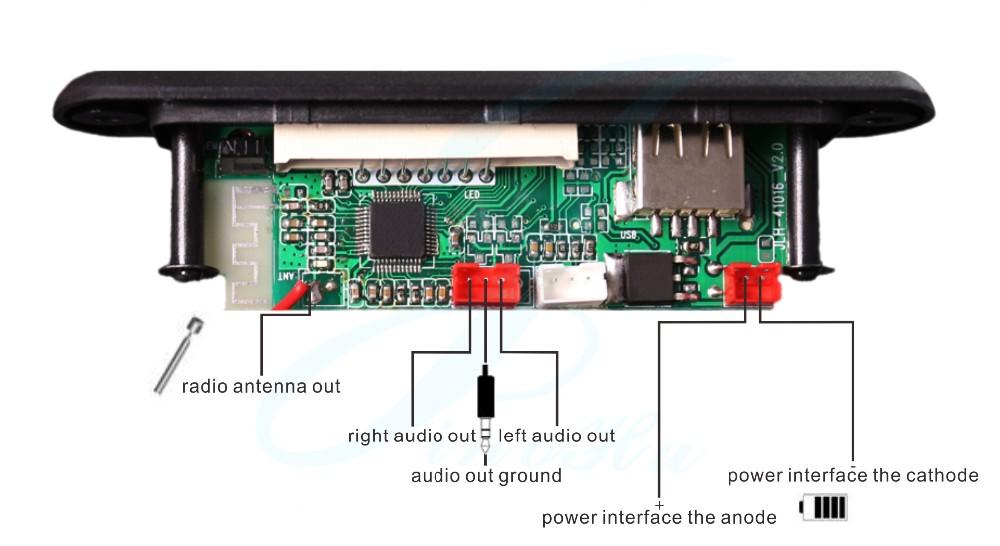 Bluetooth модуль для радио схема