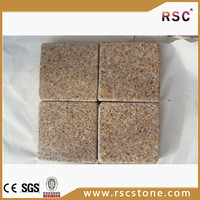 Brown granite paving low thickness