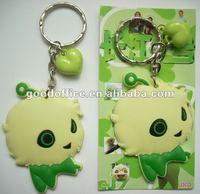 2012 cute QI ZAI soft pvc Keychain