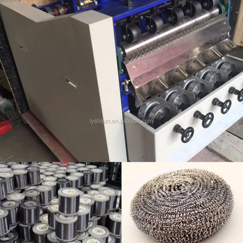 stainless steel scourer making machine