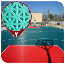 Portable indoor / outdoor basketball multi-purpose sports court flooring