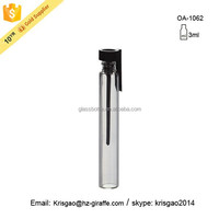 Exquisite 3ml Clear glass vials for perfume test vial with plug