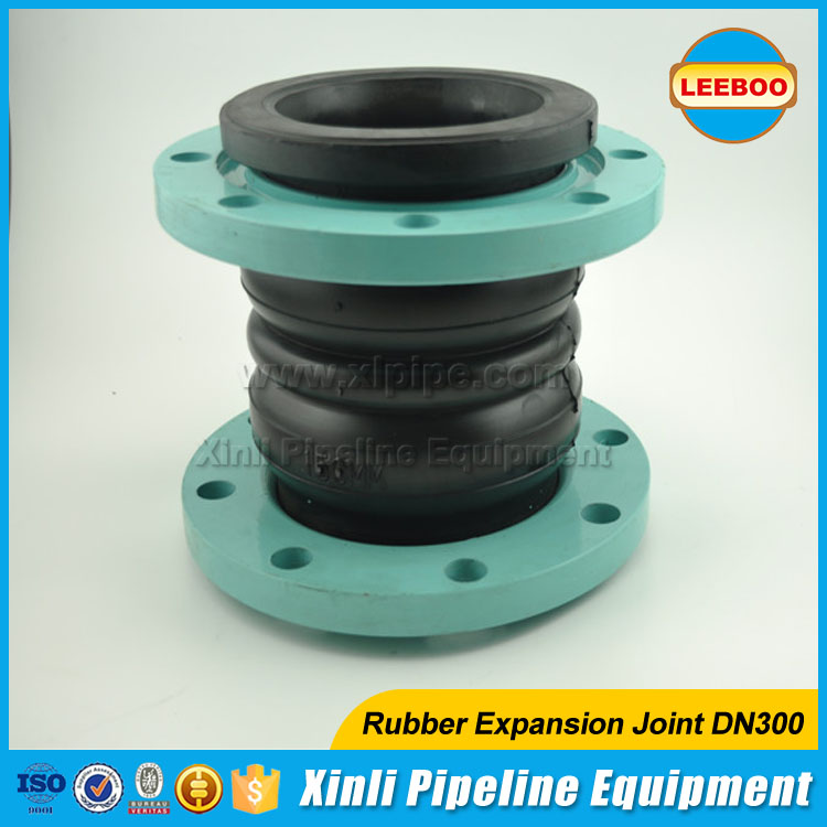 Rubber expansion joint bellows with flange