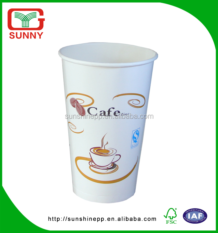 Biodegradable Customized Logo Printed Paper Cup In Europ