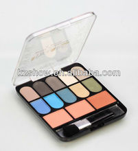 HIGH QUALITY COSMETIC 13 COLOR PIGMENT EYESHDOW PALETTE