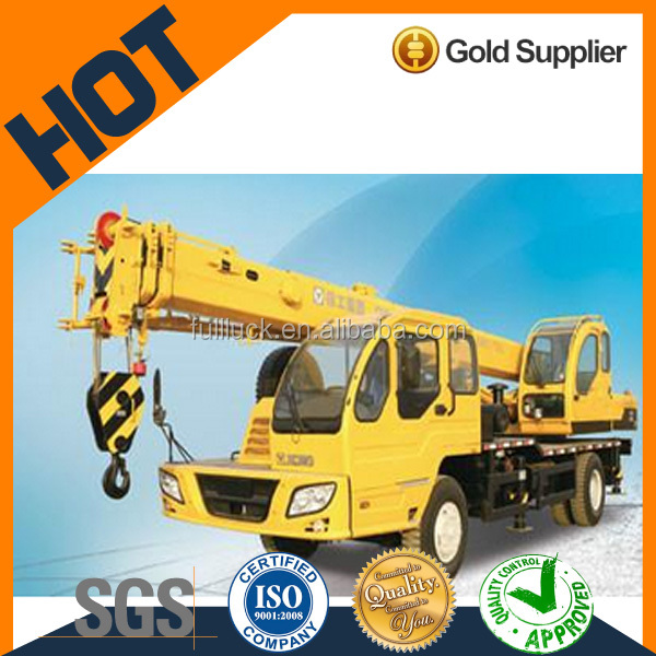 12 ton high efficiency mobile crane with low fuel consumption