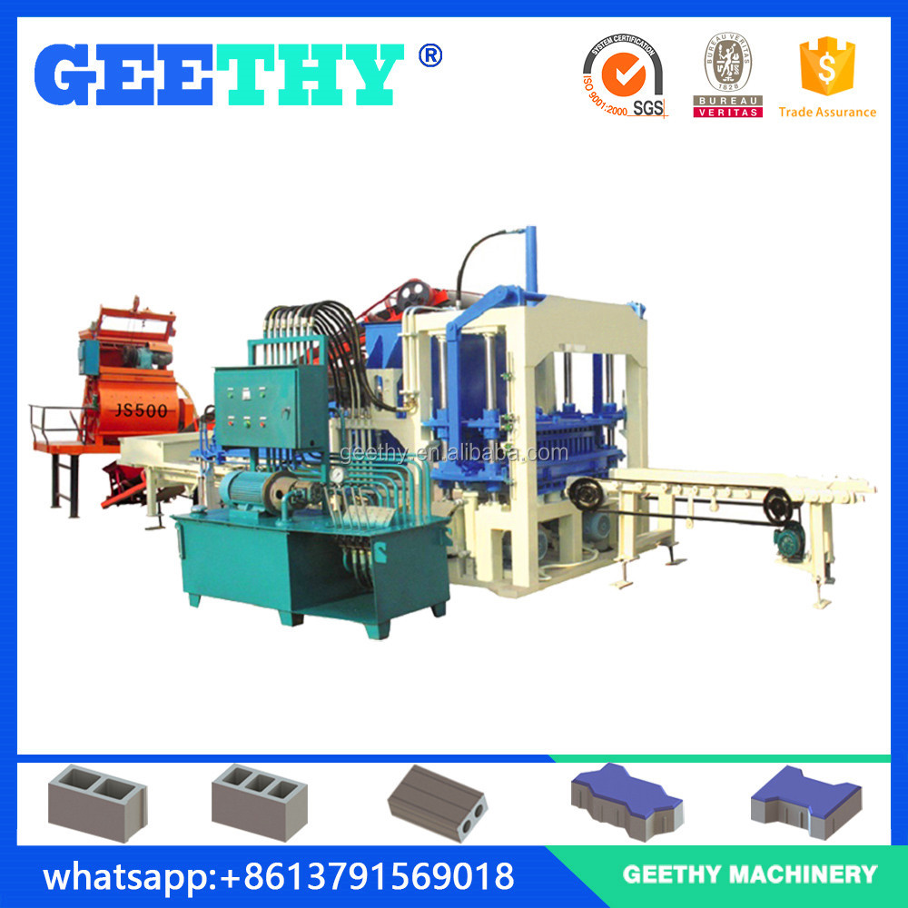 quality production line QT4-20C concrete block machine,vibrating table concrete for paver,paver machine