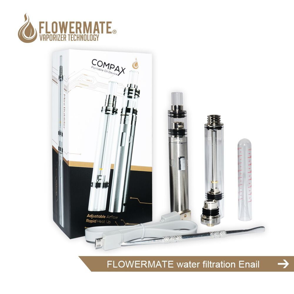 2017 trending products electronic cigarette Flowermate manufacturer compax kit water filtration wax vaporizer