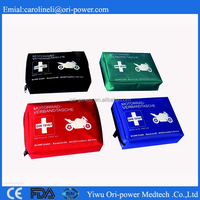 OP New ISO FDA CE approved color fashion oem practical motorcycle first aid kit for road trip car accident first aid kit